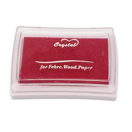 Wholesale Black Ink Pads - Wholesale-3 Color ink Pad Red Green Black Color Inkpad Stamp Decoration Fingerprint Scrapbooking Accessories Rubber Stamps Craft DIY