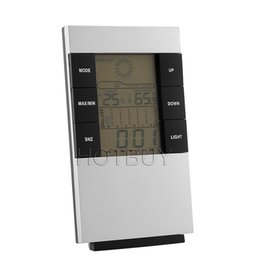 Wholesale Thermometer Hygrometer Precision - LCD Electronic Thermometer Household Thermometer Hygrometer Backlight With High Precision #4188