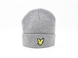 Wholesale Eagles Beanie - Free Shipping new LYLE & SCOTTS - 'HERITAGE' WOOL BLEND BEANIE WITH EAGLE LOGO OG TRI-FERG CLASSIC BEANIE P PANEL HAT PALACE CAP