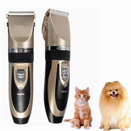 Wholesale Dog Hair Machine - New Hot Sale Professional Grooming Kit Rechargeable Pet Cat Dog Hair Trimmer Electrical Clipper Shaver Set Haircut Machine