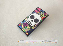 Wholesale Leather Case For Xperia P - flag Stitch Skull Doraemon matte painted veneer hard cover cartoon couple case for Sony Ericsson LT22I Xperia P