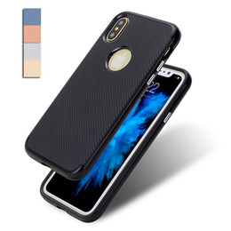 Wholesale Iphone Carbon Fiber Bumper - Carbon Case for iPhone X 8 7 6S iPhone8 Armor Hybrid Neo Bumblebee Rubber Gel Hard Bumper Fiber Cover for Samsung Galaxy Note8