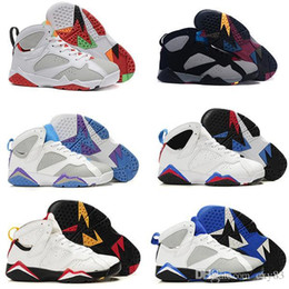 Wholesale Purple Net - All Series Retro 7 Marvin Martian Hare GS Concord Black Sweater Red Black Basketball shoes Retro 7 Bordeaux Cigar Nothing But Net Sneaker