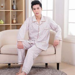 Wholesale Men Cotton Pyjamas - Free shipping 2016 men Pajama Sets male Pajamas Autumn Winter Milk cotton Pants Pyjamas sets Male Sleepwearing C1706