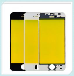 2020 apple iphone 5c gratis Vetro esterno con cornice centrale lunetta per iPhone 5 5S 5G 5C obiettivo anteriore anteriore vetro assemblato con telaio nero bianco spedizione gratuita sconti apple iphone 5c gratis