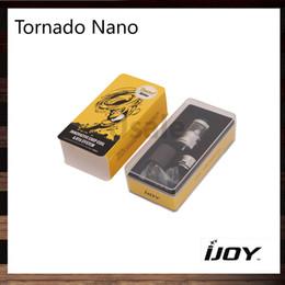 Tanque de tornado online-iJoy Tornado Nano RTA tanque de 4 ml con Construir-en el chip de la bobina de 18,6 mm de dos postes Tornado Nano atomizador original del 100%