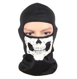 Gesichtsmaske schal kapuze online-Fahrrad-Fahrrad-Motorrad-Schädel-Haube Gesichtsmaske-Ski Balaclava Halloween-Party-CS Sport Helm Snood Hut Schals Cap Neck Geist Schal