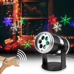 Wholesale Sound Activated Laser Lights - Wholesale- ZINUO Christmas Laser Projector Sound Activated Moving Dynamic Snowflake Tree Bell Pattern Decoration Lamp Laser Christmas Light