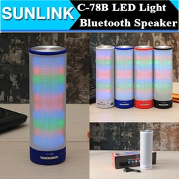 Wholesale Dancing Light Led Mini Speakers - Colorful LED Light Dancing Speaker C-78B Portable Wireless Bluetooth Mini Speaker FM Radio Hifi Louspeaker support TF Card Subwoofer