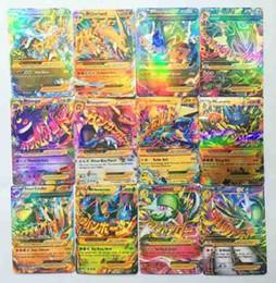 Wholesale Pc Mega - 60 Pcs Set English Poke Go Cards Shine XY EX Cards 13 Mega +47 EX Poke Card Kids Toys Gift Trading Card Christmas Gift