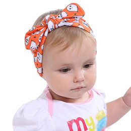 Wholesale Hair Accessories Carnival - Halloween Infant Rabbit Ear Headband Xmas Cotton Hair Accessories for Girls Baby Knot Hairband Carnival Cospaly