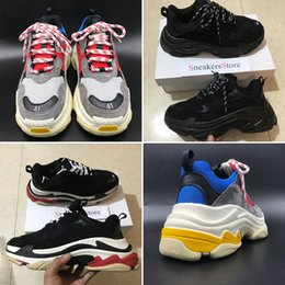 Wholesale Vintage Shoe Men - 2017 Retro Speed training Tripe-S 17FW Dad Shoe Fashion vintage Women Men Running Shoes Sport With Double Box