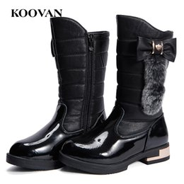 Wholesale Shoes Soft Inside - High Boots Kids Snow Boots Koovan Autumn Winter 2017 Girl Shoes Big Kids Soft Inside Big Size 26-40 Four Color Free Ship K055