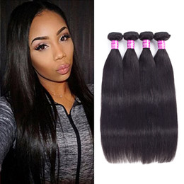 Wholesale Bella Weave - Ushine 7A Unprocessed Human Hair Brazilian Straight Soft and Thick Virgin Hair Extensions Bella Remy Human Hair Weave Bundles Same Length