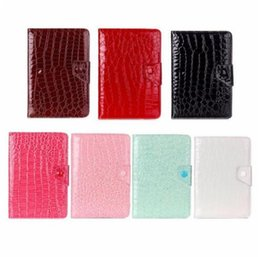 Wholesale Galaxy Tab 7inch Case - Universal Adjustable Crocodile Flip PU Leather Stand Case For 7inch Tablet PC Q88 Samsung Galaxy Tab ASUS Kindle Fire