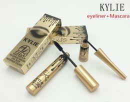 Wholesale Magic Eye Charm - 2017 High quality 2 in1 Kylie Mascara+Eyeliner Charming eyes Magic Thick Slim Waterproof Mascara Eyeliner Black B279