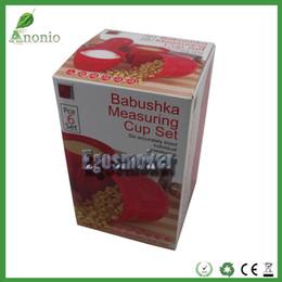 Wholesale Plastic Cup Measurements - Babushka Measuring Cup Set Russian doll plastic container 3 sets 6 kinds of measurement Kitchen Gadgets Measuring Tools)