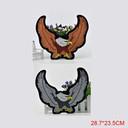 Wholesale Eagle Embroidered Patches - Free Shipping fashion eagle LOGO Iron On Embroidered Patch Appliques DIY bag clothing patches Applique Badges