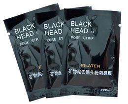 Wholesale Nose Pore Suction - PILATEN Suction Black Mask Face Care Mask Pore Strip Deep Cleansing Nose Acne Blackhead Facial Mask Remove Black Head mask DHL