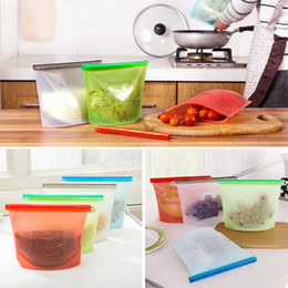 Wholesale Storage Containers Free Shipping - Reusable Silicone Food Preservation Bag Airtight Seal Food Storage Container Versatile Cooking Bag Free Shipping WX9-48