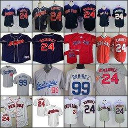 Wholesale Red Sox Jerseys - stitched Men Red Boston Red Sox #24 Manny Ramirez white Cleveland Indians navy blue jersey,cheap Los Angeles Dodgers 99 Ramirez gray Jerseys