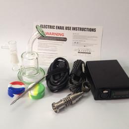 Портативный Enail мини E ногтей комплект цифровой электрический Dab коробка контроля температуры 16 мм катушки нагреватель Титана кварц гибридный воск испаритель сухой травяной от