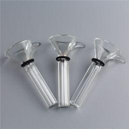 Wholesale Slide Slider - Wholesale Glass Slider Bowl Glass Slide Diameter 9mm for Glass Water Bongs and Pipes clear Color