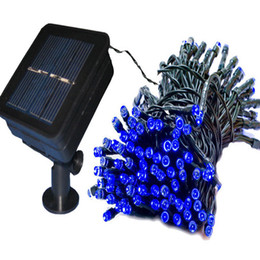 Wholesale holiday auto - 52M 500leds LED Fairy Garden LED solar panel christmas light auto working in nigh 3V solar panel