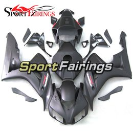 Wholesale Motorcycle Decals For Honda - Full Injection Matte Grey With Red Decal Fairings For Honda CBR1000RR 06 07 2006 2007 Injection ABS Motorcycle Fairing Kit Bodywork Fittings