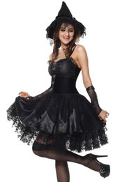 Wholesale Adult Sexy Outfits - Sexy Adult Halloween Deluxe Women Wicked Witch Costume Party Fancy Dress Outfit AM120830 SIZE MXL