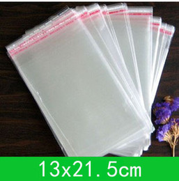 Wholesale Self Seal Cellophane Bags - New Cellophane Bag (13x19cm) with self-adhesive seal for retail or wholesale 500pcs lot Clear Opp Bags