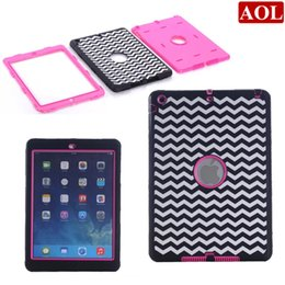 Wholesale Apple Mark - New laser carving mark etching Silicone + Plastic 3 in 1 tablet Protective case cover for iPad 2 3 4 air air2 iPad mini