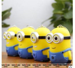 Wholesale Despicable 3d - 4 styles Despicable Keychains Cartoon Key Chain Despicable 3D Eye Minions Figures Kids toy Keychain