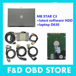 Wholesale Das C3 - best Multi-Language Professional MB star c3 with D630 (V07 2015)+Super Xentry Das Software With HDD DHL free shipping