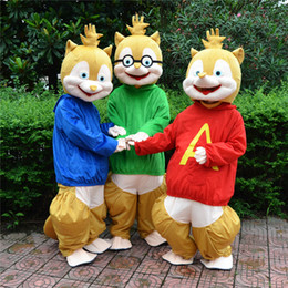 Wholesale Alvin Chipmunks Christmas - 2016 hot sale! Alvin and the chipmunks new mascot costume alvin mascot costume free shipping Halloween festival Christmas party