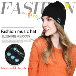 Wholesale apple hats wholesale - Bluetooth Music Beanie Hat Wireless Smart Cap Headset Headphone Speaker Microphone Handsfree Music Hat with Retail Package