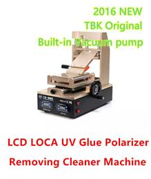 limpador de oca Desconto TBK-318 2016 Mais Recente 3 em 1 LCD Tela de Toque LOCA OCA UV Cola Polarizador Filme Degumming Máquina Separador Removedor Limpo Construído Em Bomba de Vácuo
