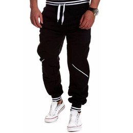 Wholesale Track Pants Wholesale - Wholesale-Mens Joggers Men Pants Joggers Trousers 2016 New Track Pants Solid Color Harem Hip-hop Tracksuits MU863315