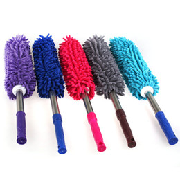 Wholesale Motors Blinds - Hot style scalable chenille car wax brush motor dust car wax brush duster household brush tool car