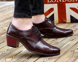 Wholesale Dresses Elegant For Office - Italian Fashion Leather Men Shoes Point Toe Elegant Qualit Leather Mens Dress Flats Shoes Oxford Shoes For Men Business Shoes,size38-44
