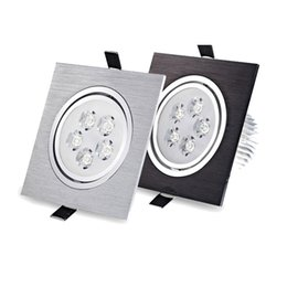 Wholesale Day Light 5w - led recessed ceiling light square 5W 7W 85-265V led lamp kitchen 50pcs downlight warm day cold white red green blue black silver luces led