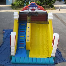 Wholesale Bouncy Slides - Garden playing equipment classic inflatable clown slide customized bouncy slide climbing slide for sale in 2016