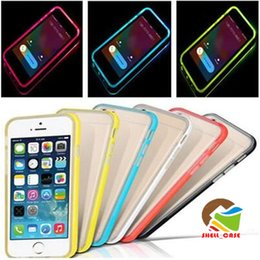 Housse de protection 2 po de 1 Led Bumper Tpu transparent Housse de protection Flash Up Lighting Housse de protection Ultra Thin Transport pour iPhone 4 5 6 Plus samsung s6 a5 a7 ? partir de fabricateur