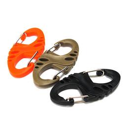 Wholesale Paracord Accessories - 100PCS S-Biner Clip For Paracord Bracelet Carabiner 8 Shape Keychain Keyrack Outdoor Bag Parts EDC Tool & Accessories