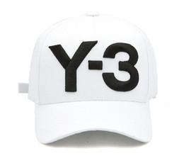 Moda atrevida online-Top Fashion Y-3 Dad Hat Big Bold Logo bordado Gorras de béisbol Ajustable Strapback Sombreros Y3 hueso Snapback deportes Casquette visor gorras