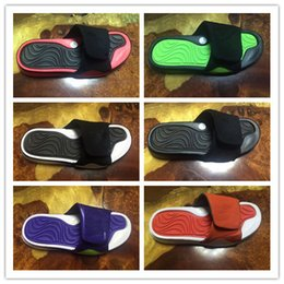 Wholesale Plush Slippers - With box Fashion 4 slippers sandals Hydro IV 4s Slides black Free shipping men basketball shoes casual shoes outdoor sneakers size 8-13
