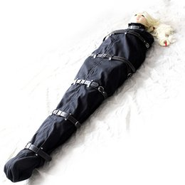 Wholesale Bondage Catsuit - Full Body Harnesses Mummy bondage clothes Catsuit Fetish Bondage Toys Nylon Restraints Bag Cloth Adult SM Slave Game Products for Couples