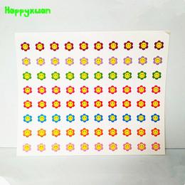 Wholesale Rhythm Types - Happyxuan 50 sheets lot 17*20cm Colorful Sun Flowers Reward Stickers School Teacher Praise Sticky Paper Classic Toys For Kids