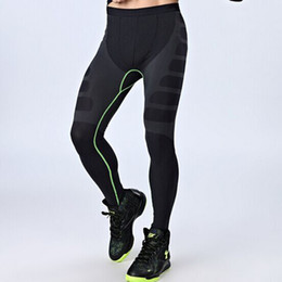 Wholesale Sweat Absorbing Spandex - Wholesale-1Pcs High Quality Breathable Sweat Absorb Compression Base Layer Trouser Long Bottom Pants Tights For Men