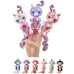 Wholesale Interactive Kid - Unicorn Fingerlings Boys Toys Finger Monkeys Electronic Kids Toys Fingerling Monkey Interactive Puppets Robot Dolls Gigi Free Shipping